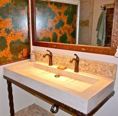 Custom Made Councrete Counters And Sinks
