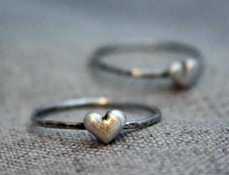 Custom Made A Little Love Token Heart Ring - $38