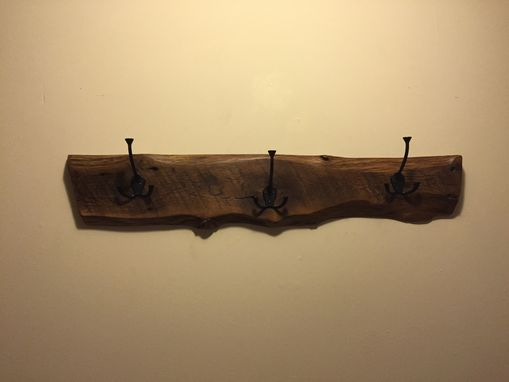 Custom Made Reclaimed Oak Coat Rack