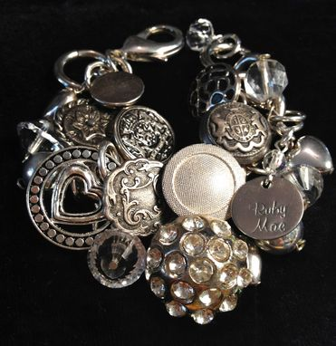 Custom Made Silver Buttons Bracelet