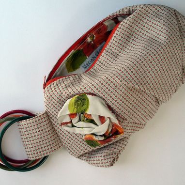 Custom Made Grandma's Table Cloth Handbag