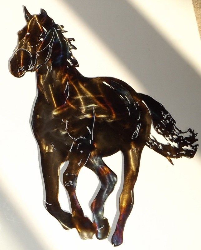 Custom Made Running Horse Metal Wall Art Sculpture