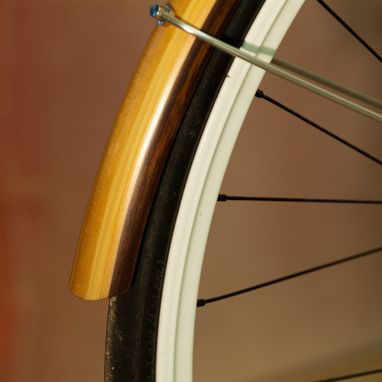Custom Made Wooden Fenders On A Traitor Bicycle