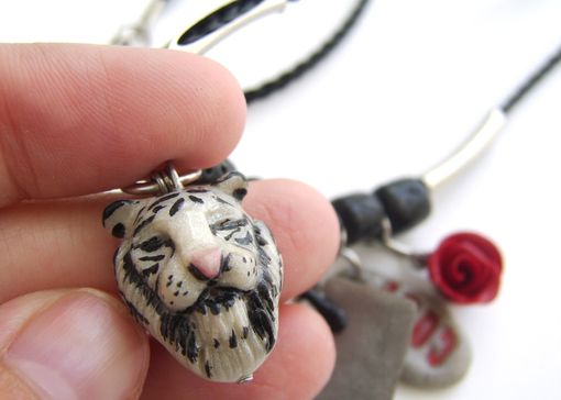 Custom Made Personalized Stainless Steel And Polymer Clay Charm Necklace