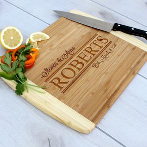 Personalized Cutting Board Engraved Custom Wedding Gift Cb Bam