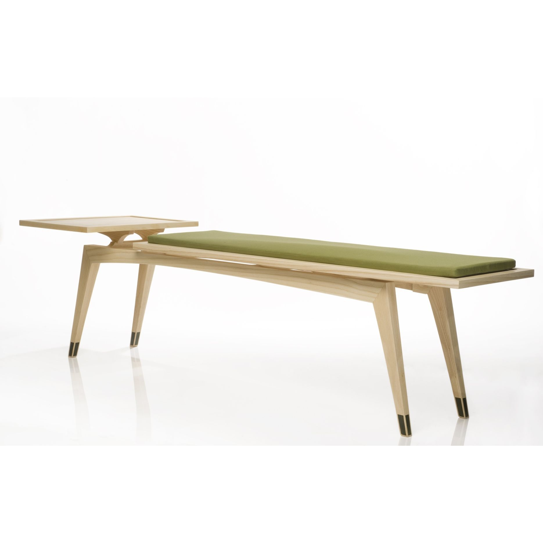 Custom Addison Bench Mid Century Modern Bench And Side Table By