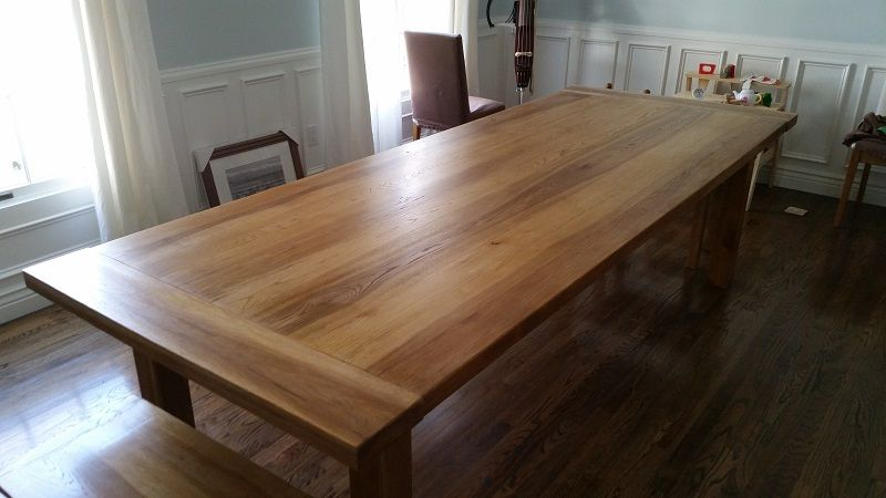 Custom Farmhouse Dining Table By AJC Woodworking