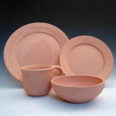 Custom Made Handmade Pottery 4 Piece Place Setting - Choose Your Glaze Color And Style