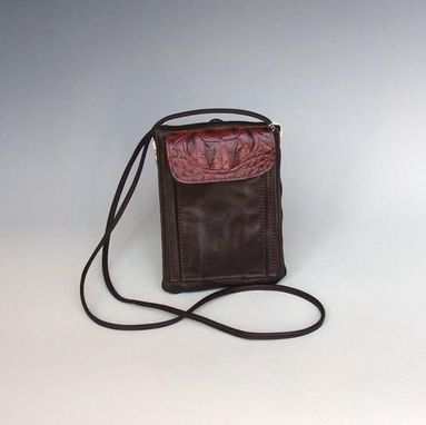 Custom Made Suzi Very Dark Leather Purse