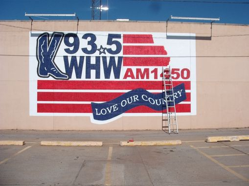 Custom Made Kwhw Fm Radio Mural