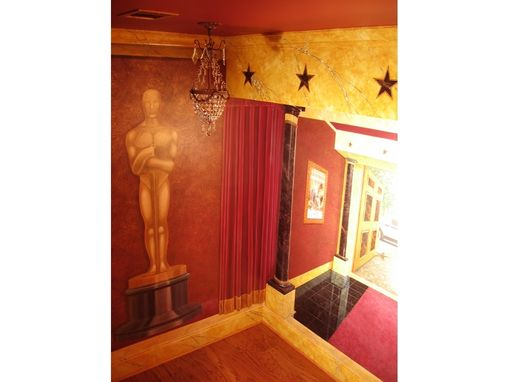 Custom Made Art Deco Movie Palace Trompe L'Oeil Mural By Visionary Mural Co.