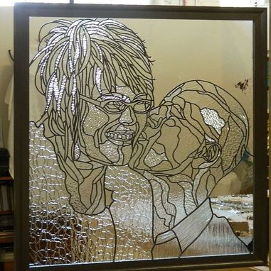 Custom Made Leaded Glass Portrait