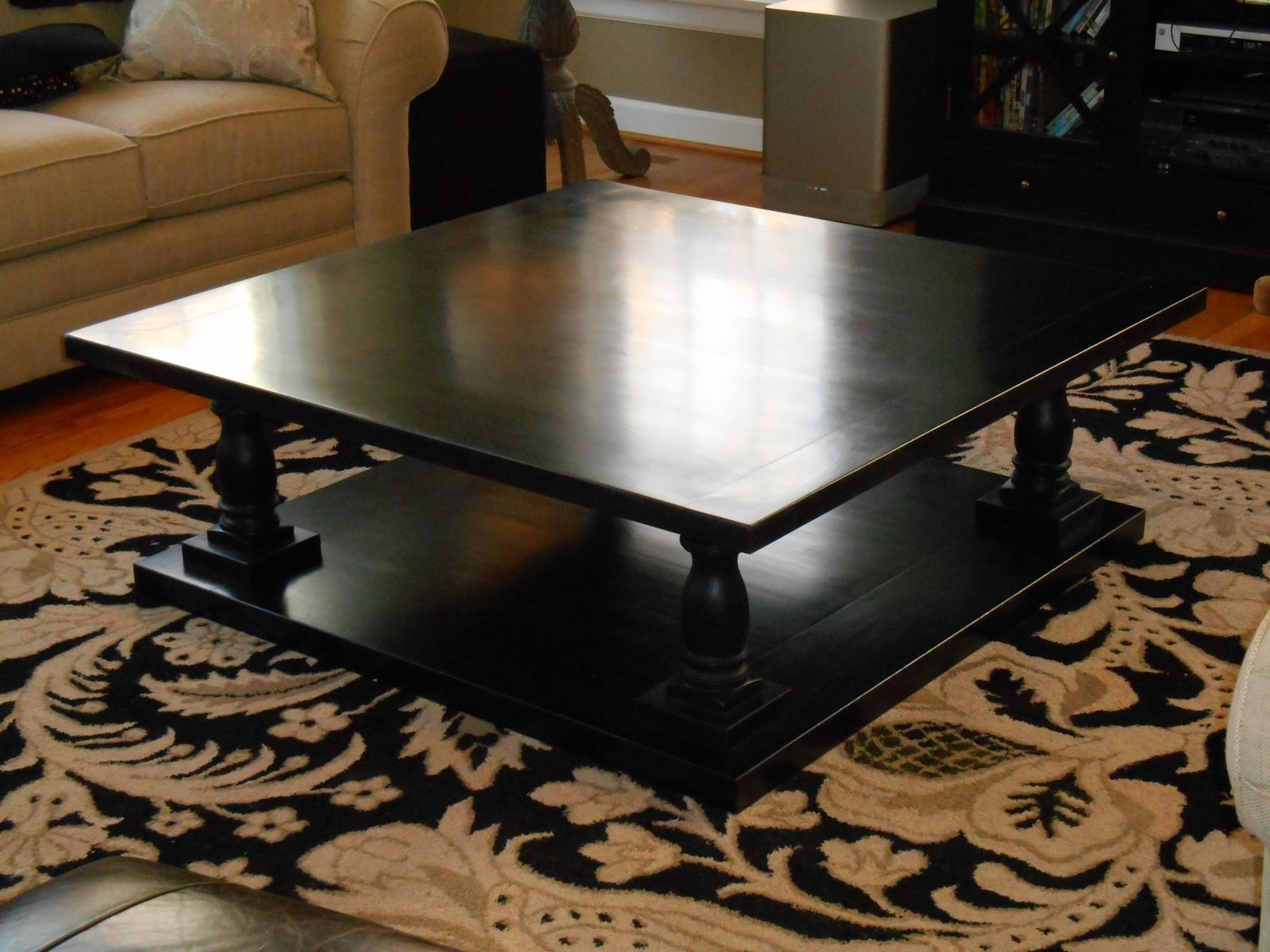 Hand Crafted Coffee Table By Sugarcreek Woodworks Design 50 Inch Square