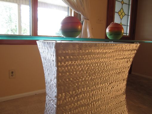 Custom Made Luster Collection / Accent Table /  Metal Sculpture