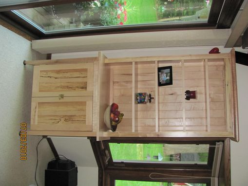 Custom Made Curly Maple Hutch