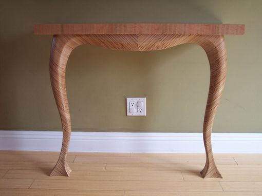 Custom Made Modern Table Sculpted From Scraps Of Plywood