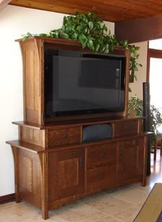 Custom Made Craftsman Style Entertainment Room