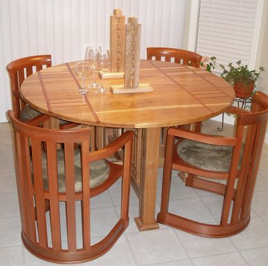Custom Made Prairie Round Dining Table