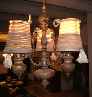 Custom Made Rustic Style Lamp Shade, Western Rope Lamp Shade