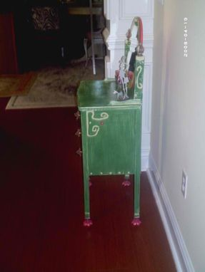 Custom Made Sale Now Childs Vanity Made From Recycled Wood And Metal Flower Legs