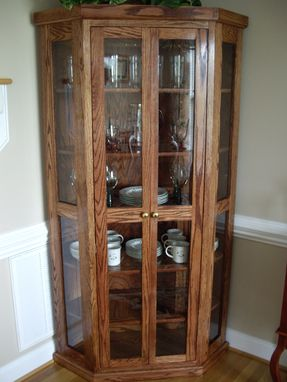 Custom Made Qak Corner China Cabinet