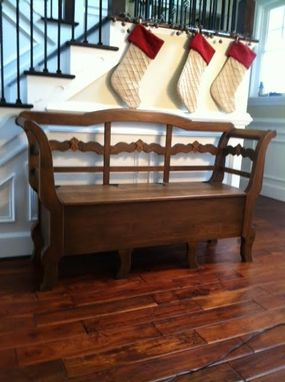 Custom Made Swedish Entry Foyer Bench With Seat Storage And Hidden Cubby