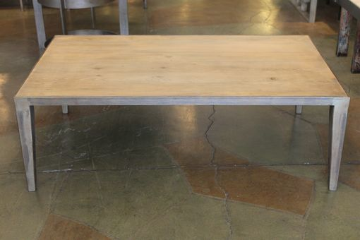Custom Made Metal Taper Leg Reclaimed Fir Coffee Table (Floor Model)