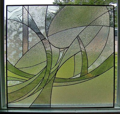 Custom Made Bathroom Privacy Stained Glass Panels