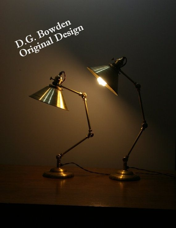 Hand Made All Brass Industrial Articulating Desk Lamp by ...