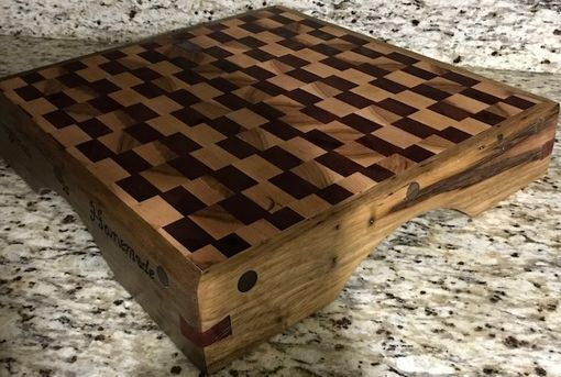 Custom Made Exotic Wood End Grain Cutting Board