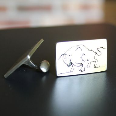 Custom Made Sterling Cuff Links