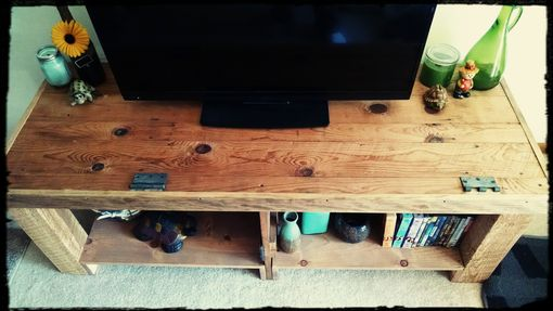 Custom Made Reclaimed Door Entertainment Center