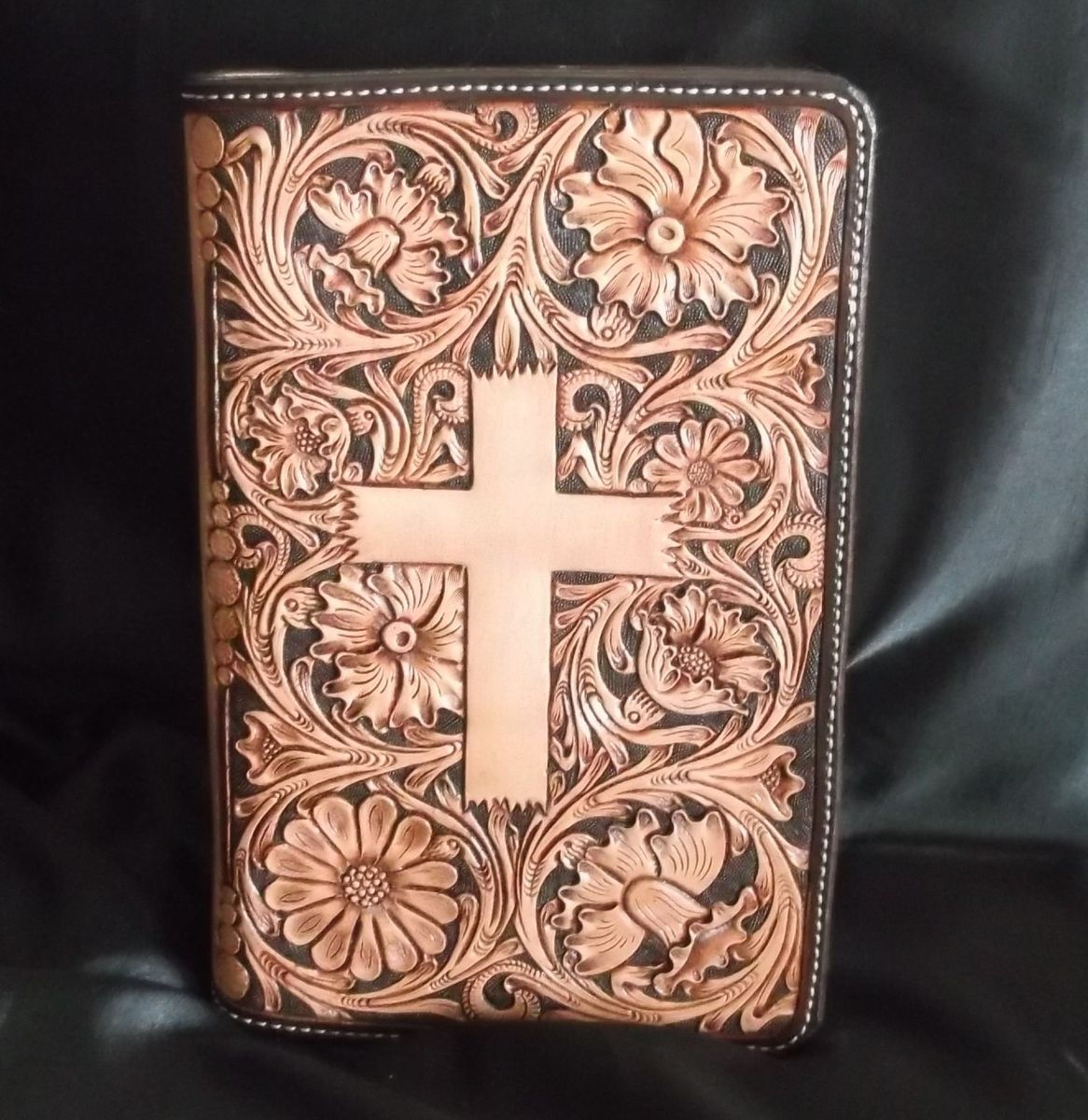 Handmade Custom Leather Bible Covers By Double U
