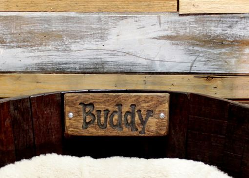 Custom Made Personalized Large Wine Barrel Dog Bed