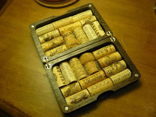 Custom Made Fly Fishing Box With Wine Corks