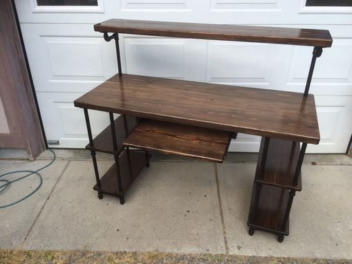 Custom Made Pipe & Wood Studio Desk