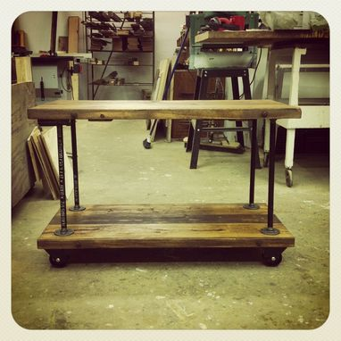 Custom Made Custom-Sized Industrial Iron Pipe Flange Shelves