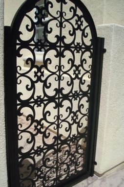 Custom Made Italian Designed Metal Iron Gate On Sale Garden Walkway Entry Custom Handcrafted Factory Direct