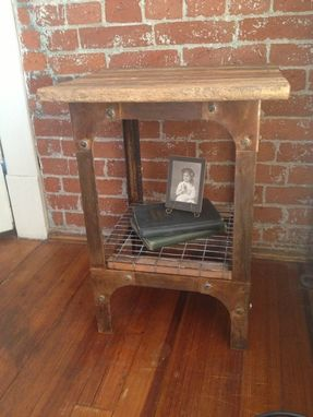 Custom Made Rustic Urban End Table