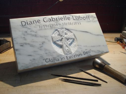 Custom Made Hand Carved And Hand Lettered Memorial Stones