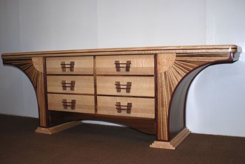 Custom Made Curved Dresser/Sideboard