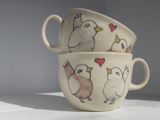 Custom Made Wedding Gift - Engagement Gift - Pair Of Made To Order Ceramic Teacups