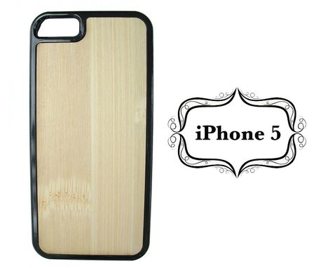 Custom Made Hard Shell Wood Back Iphone 5 Cases