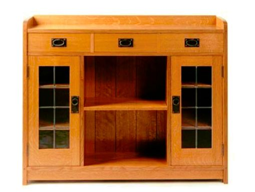 Custom Made Arts And Crafts Style Display Case Or Media  Center