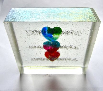 Custom Made Cast Glass - Three Hearts