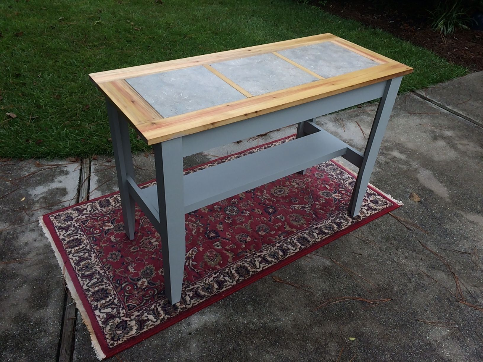 Buy A Hand Crafted Console Table With Inlaid Ceramic Tile Perfect