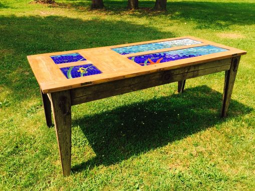 Custom Made Stained Glass Dining Table