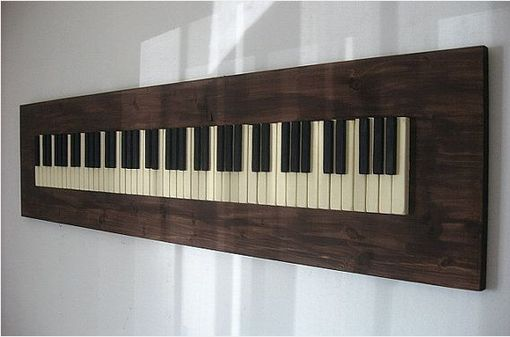 Custom Made Repurposed Piano Key Wall Art