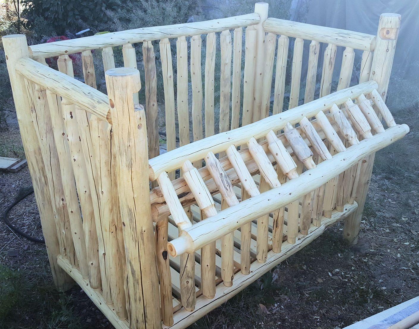 Hand Made Rustic Handmade Log Nursery By The Wood
