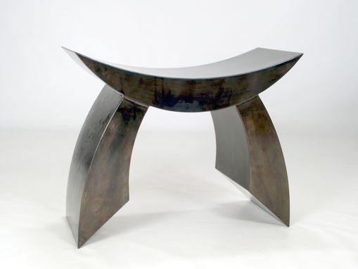 "Custom Made Furniture Bench Metal Sculpture ""Bench C"""